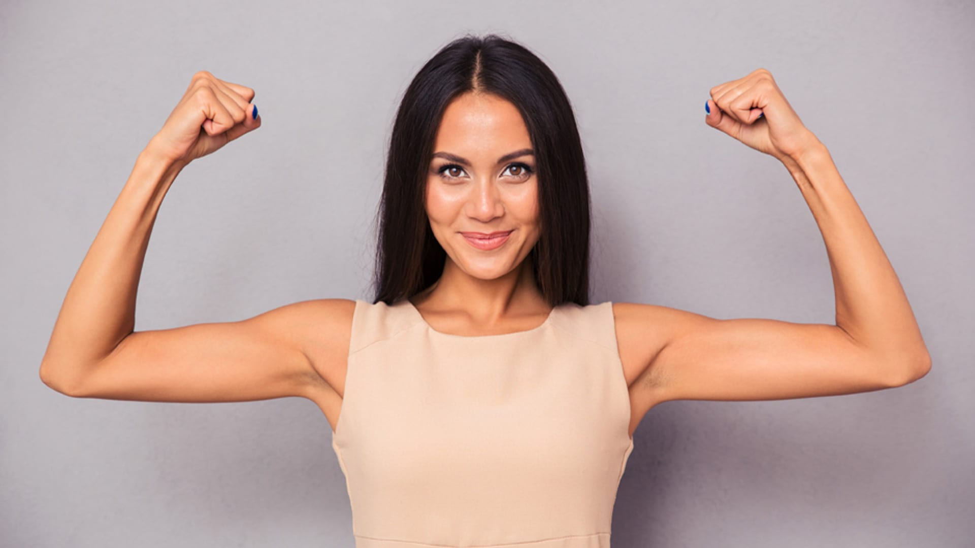 Skin laxity. A workout is merely the starting block for toned muscles.